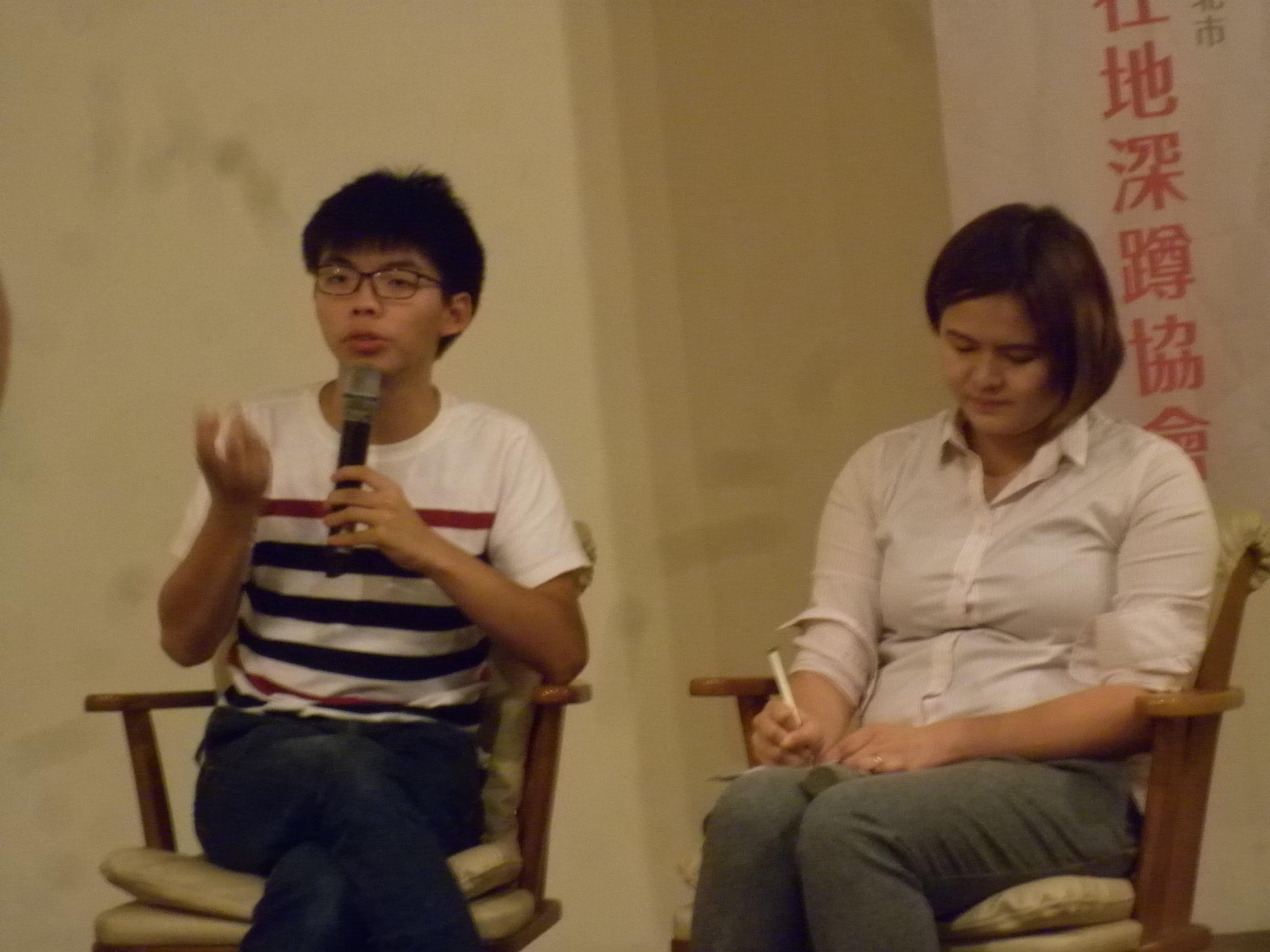 港台社運對談 黃之鋒:進入體制理念會打折